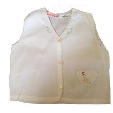 Mint cotton baby shirt with chick