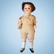 Antique all Bisque doll house Boy