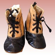 Antique leather shoes for German Doll