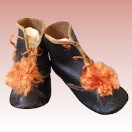 Wonderful leather shoes for French or German doll