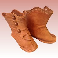 Antique leather boots for French fashion doll