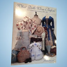 Theriaults auction catalog, 'What Dolls Wore Before'