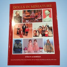 Vintage reference book, Dolls in Miniature