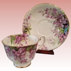 Perfect HTF Wistaria CUP & Saucer