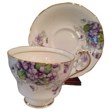 Beautiful Violetta ,by Paragon, CUP & SAUCER