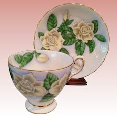Vintage Yellow tea Rose Cup & Saucer