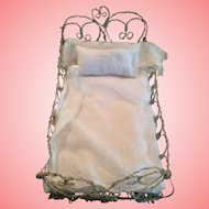 Vintage one of a kind wire Sweet Heart Bed