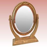 Vintage Wooden doll Dresser Mirror