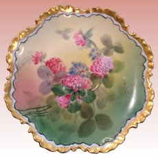 Gem of a vintage Bavarian handpainted plate