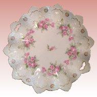 Impressive Austrian display Platter with tea Roses