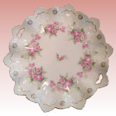 Impressive Austrian display Platter with tea Roses