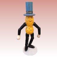 Vintage wooden segmented MR PEANUT figure