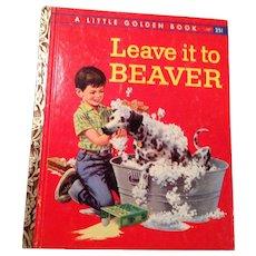 Vintage 1959 Leave it to Beaver, little golden book.