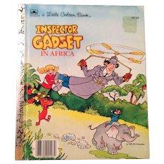 HTF Inspector Gadget in Africa, little golden Book