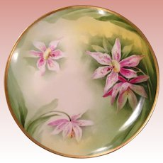 Lovely vintage handpainted, signed Limoges wall plate