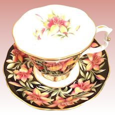 Fabulous Vintage Royal Albert Prairie Lilly cup and saucer
