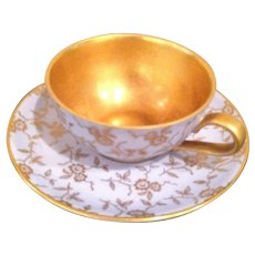 Small vintage Duisdorf espresso cup and saucer