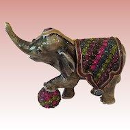 Retired Jay Strongwater Elephant trinket box