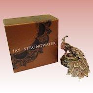 Vintage Jay Strongwater Peacock trinket Box