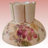 "Fabulous Royal Worcester 3 "" handpainted vase"