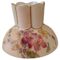 "Fabulous Royal Worcester 3 "" handpainted vase"