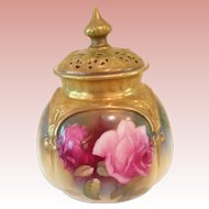 Fabulous Royal Worcester incense holder