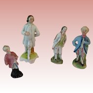 Vintage Porcelain Men statues for Dollhouse