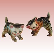 Vintage tabby cat Salt and Pepper shakers