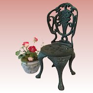 Vintage Cast Iron Garden Chair for BEBE