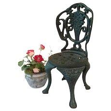 Vintage Cast Iron Garden Chair for BEBE