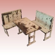 Vintage Arcade Curtis Kitchen Table and Benches