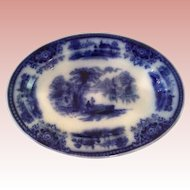 Rare English Flo blue Platter for Dolly