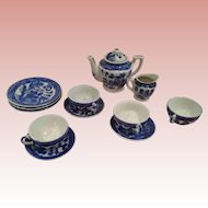 Occupied Japan blue willow partial teaset