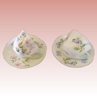 Pair  of Vintage Shelley cups and saucers