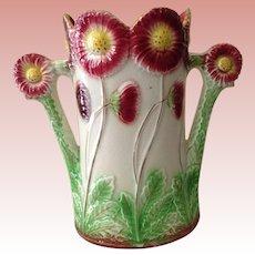 Fabulous Vintage Majolica floral Vase