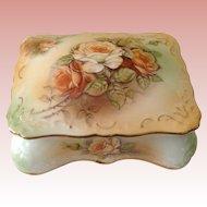 Lovely Vintage Large RS floral Dresser Box