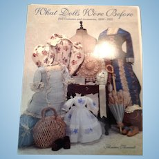 """Mint Theriaults """"What Dolls Wore Before"""" costume catalog"""