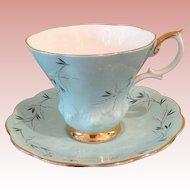 Vintage Royal Albert baby blue Cup & saucer