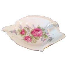 Vintage Lefton wild rose pin dish