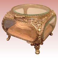 Gorgeous vintage brass ormolu Jewelry Casket