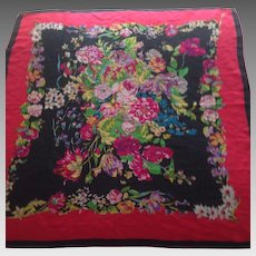 Vibrant Vintage Handrolled silk Japan Scarf