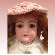 Lovely Antique Handwerck. 109  cabinet size Girl