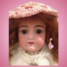 Lovely Antique Handwerck. 109  cabinet size Girl