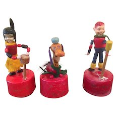 Vintage Kohner Howdy Doody show push Puppets