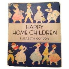 Vintage Happy Home Children by Elizabeth Gordon, children's book