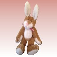 Beautiful miniature velveteen Artist Bunny
