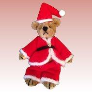 Tiny Velvet Artist Santa Bear