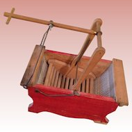 Fabulous Antique toy Wooden Washing machine