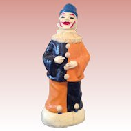 Fabulous vintage French cardboard mâché Clown