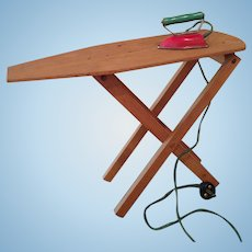 Sweet Vintage iron and ironing board for dolly